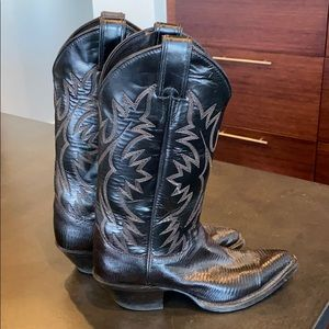 Justin Cowboy Boots Brown Leather